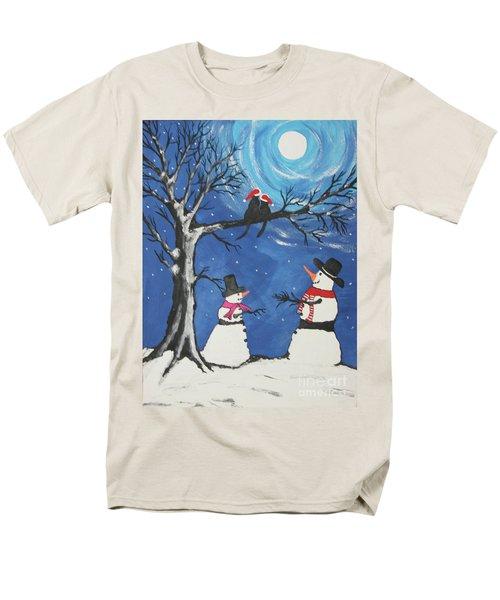Christmas Cats In Love Men's T-Shirt  (Regular Fit) by Jeffrey Koss