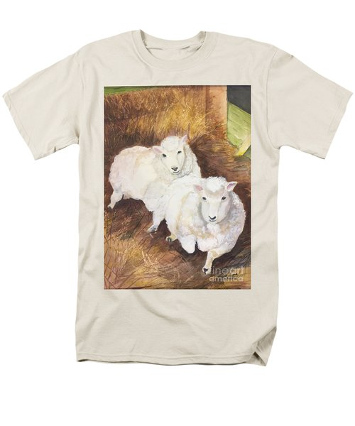 Men's T-Shirt  (Regular Fit) featuring the painting Christmas Sheep by Lucia Grilletto