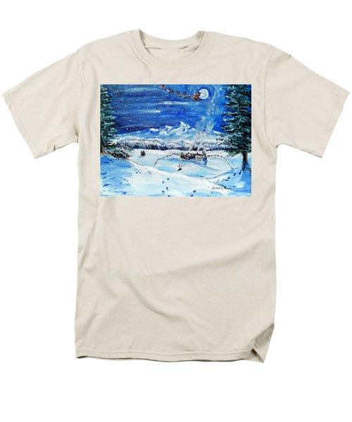 Men's T-Shirt  (Regular Fit) featuring the painting Christmas Wonderland by Shana Rowe Jackson