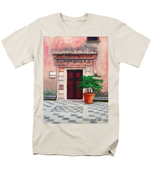 Church Side Door - Taormina Sicily Men's T-Shirt  (Regular Fit) by Mike Robles