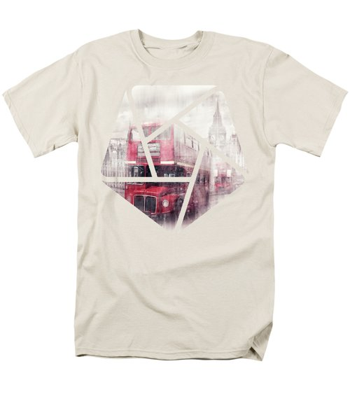 City-art London Westminster Collage II Men's T-Shirt  (Regular Fit) by Melanie Viola