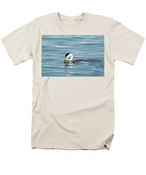 Men's T-Shirt  (Regular Fit) featuring the photograph Clarks Grebe by Everet Regal