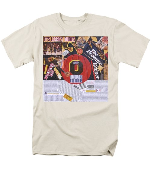 Men's T-Shirt  (Regular Fit) featuring the painting Cleveland Cavaliers 2016 Champs by Colleen Taylor