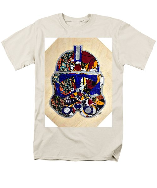 Men's T-Shirt  (Regular Fit) featuring the tapestry - textile  Clone Trooper Star Wars Afrofuturist by Apanaki Temitayo M