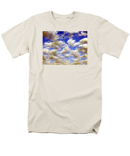 Men's T-Shirt  (Regular Fit) featuring the digital art Clouds Blue Sky by Jana Russon