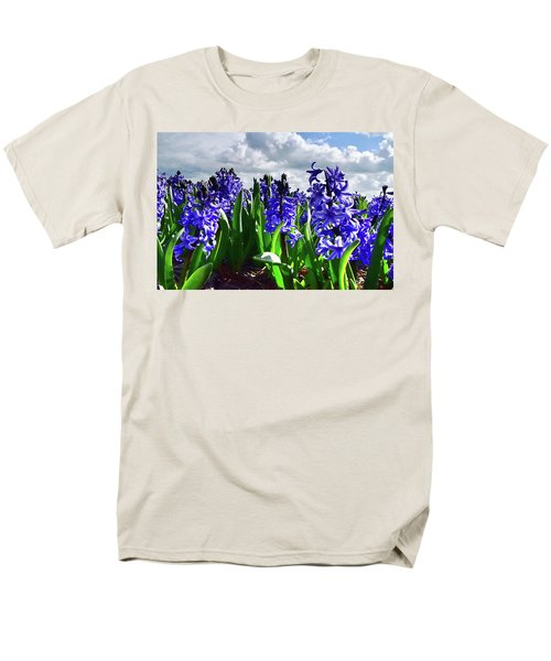 Clouds Over The Purple Hyacinth Field Men's T-Shirt  (Regular Fit) by Mihaela Pater