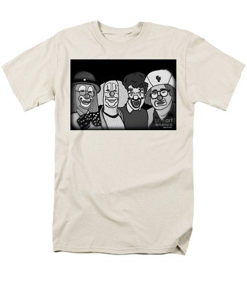 Clowns Bw Men's T-Shirt  (Regular Fit) by Megan Dirsa-DuBois