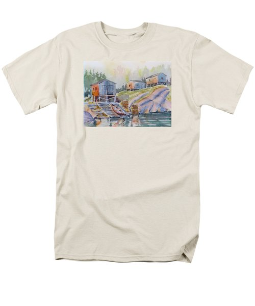Coastal Village - Newfoundland Men's T-Shirt  (Regular Fit) by David Gilmore