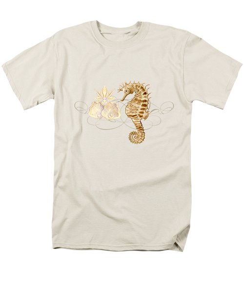 Coastal Waterways - Seahorse Rectangle 2 Men's T-Shirt  (Regular Fit) by Audrey Jeanne Roberts