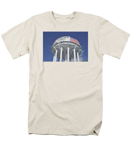 Cocoa Florida Water Tower Men's T-Shirt  (Regular Fit) by Bradford Martin