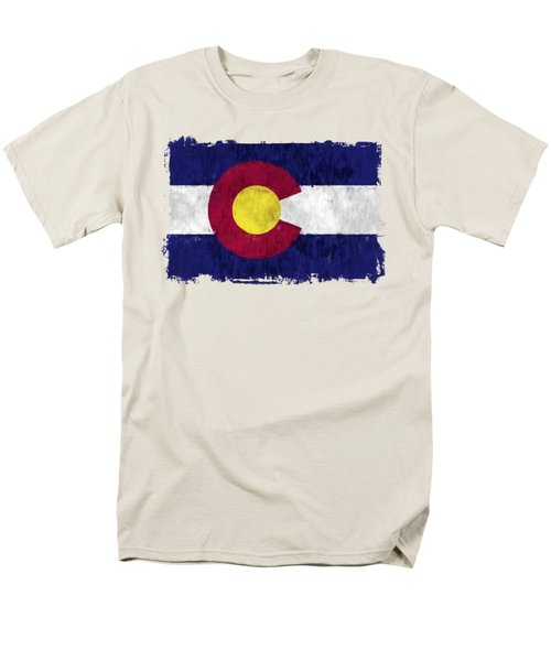 Colorado Flag Men's T-Shirt  (Regular Fit) by World Art Prints And Designs