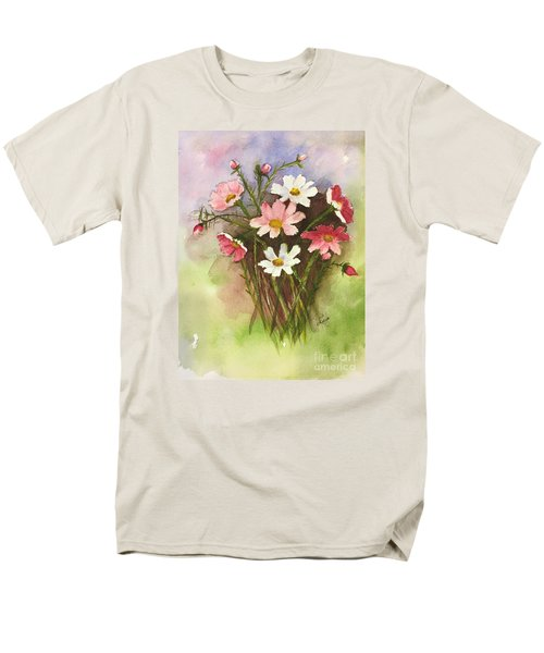 Men's T-Shirt  (Regular Fit) featuring the painting Colorful Cosmos by Lucia Grilletto