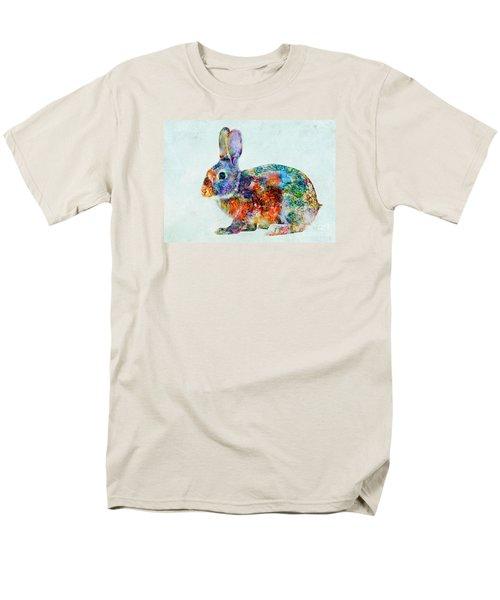 Colorful Rabbit Art Men's T-Shirt  (Regular Fit) by Olga Hamilton