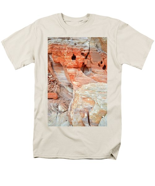 Men's T-Shirt  (Regular Fit) featuring the photograph Colorful Wall Of Sandstone In Valley Of Fire by Ray Mathis