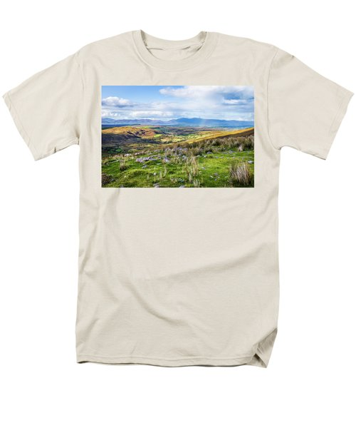 Men's T-Shirt  (Regular Fit) featuring the photograph Colourful Undulating Irish Landscape In Kerry  by Semmick Photo