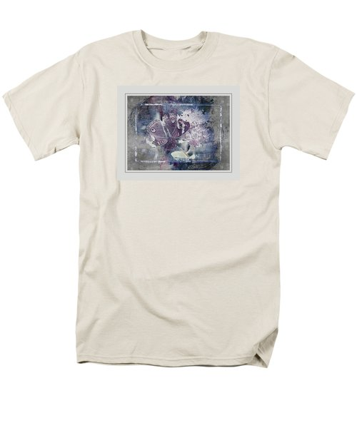 Common Buckeye In Blues Men's T-Shirt  (Regular Fit) by Karen McKenzie McAdoo