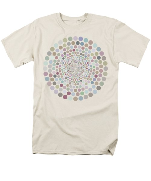 Men's T-Shirt  (Regular Fit) featuring the painting Vortex Circle - White by Hailey E Herrera