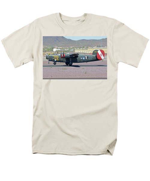 Men's T-Shirt  (Regular Fit) featuring the photograph Consolidated B-24j Liberator N224j Witchcraft Deer Valley Arizona April 13 2016 by Brian Lockett