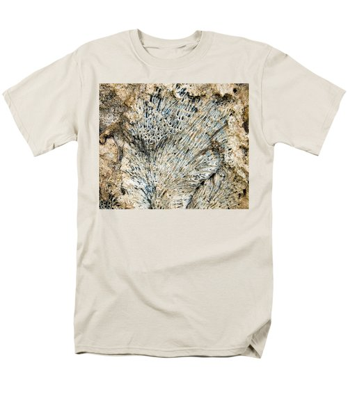 Men's T-Shirt  (Regular Fit) featuring the photograph Coral Fossil by Jean Noren