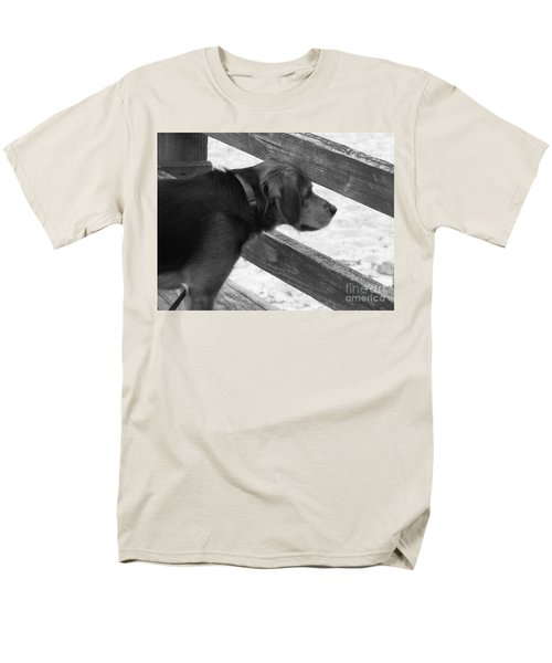Corby In B And W Men's T-Shirt  (Regular Fit) by Erick Schmidt