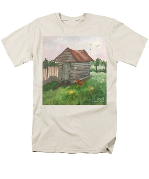 Men's T-Shirt  (Regular Fit) featuring the painting Country Corncrib by Lucia Grilletto
