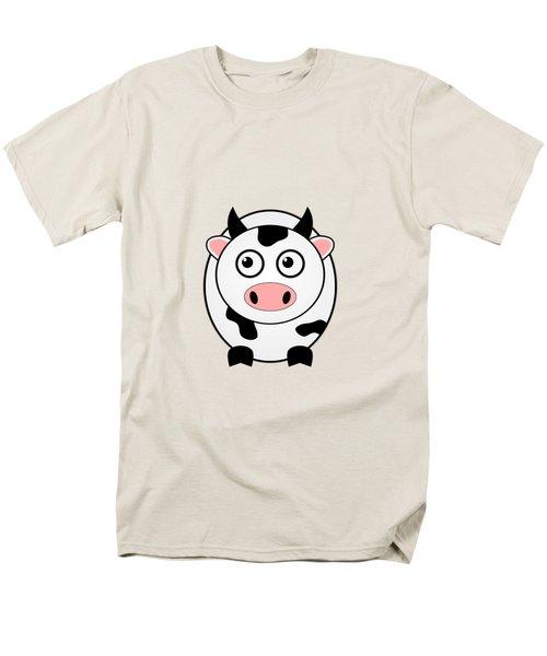 Cow - Animals - Art For Kids Men's T-Shirt  (Regular Fit)
