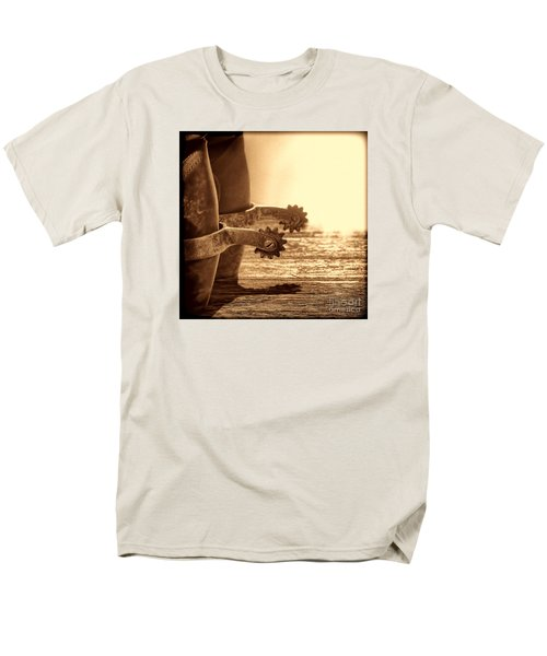 Cowboy Boots And Riding Spurs Men's T-Shirt  (Regular Fit) by American West Legend By Olivier Le Queinec
