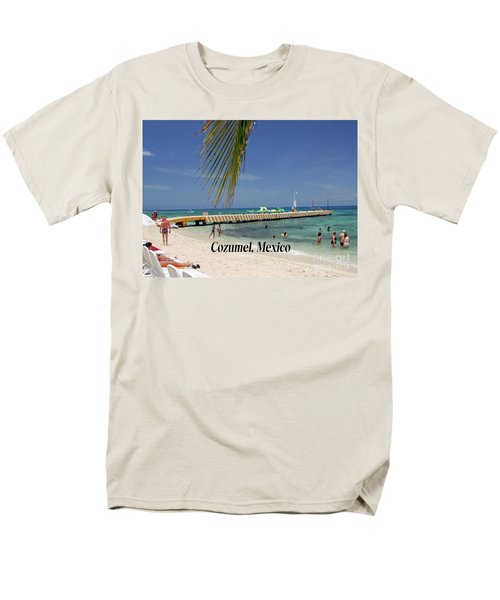 Cozumel Mexico Men's T-Shirt  (Regular Fit) by Gary Wonning