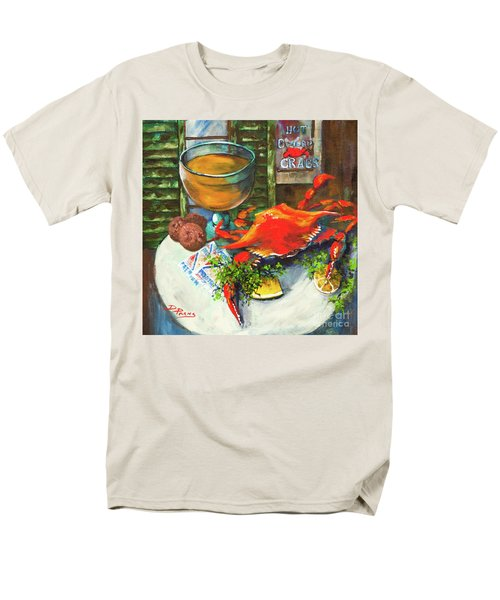 Crab And Crackers Men's T-Shirt  (Regular Fit) by Dianne Parks