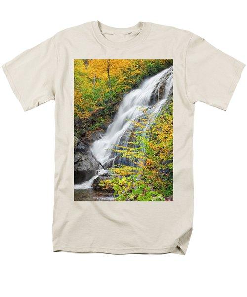 Crabtree Falls In The Fall Men's T-Shirt  (Regular Fit) by David Cote