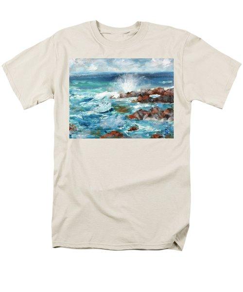 Crashing Waves Men's T-Shirt  (Regular Fit) by Walter Fahmy