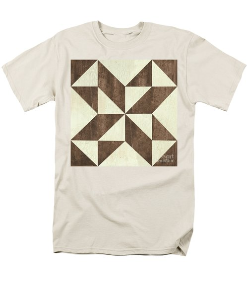 Men's T-Shirt  (Regular Fit) featuring the painting Cream And Brown Quilt by Debbie DeWitt
