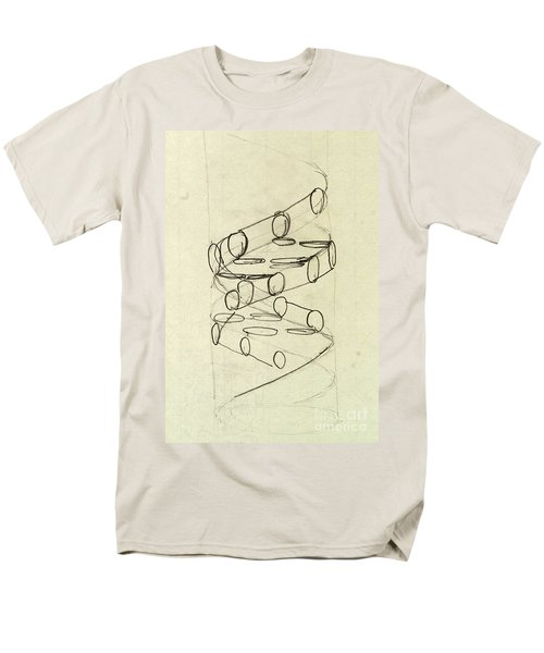 Cricks Original Dna Sketch Men's T-Shirt  (Regular Fit) by Science Source