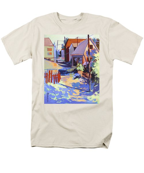 Men's T-Shirt  (Regular Fit) featuring the painting Crisscross by Rae Andrews