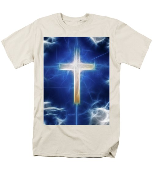 Cross Abstract Men's T-Shirt  (Regular Fit) by Bruce Rolff