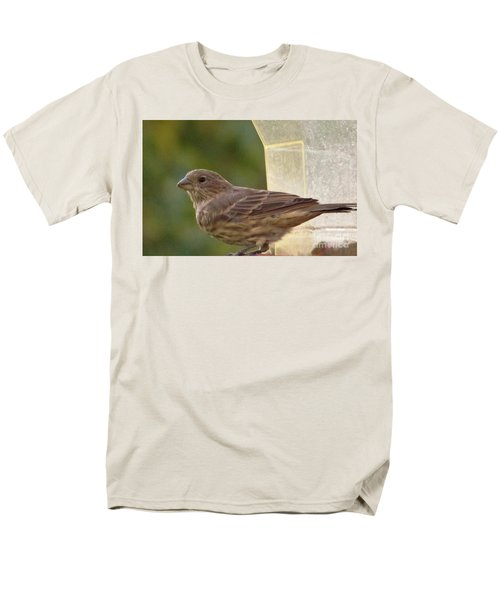 Crossbill Female Portrait      September    Indiana Men's T-Shirt  (Regular Fit) by Rory Cubel
