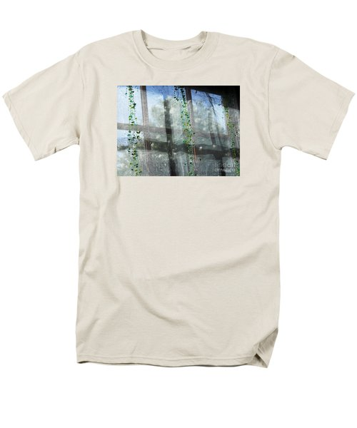 Men's T-Shirt  (Regular Fit) featuring the photograph Crosses In The Window by Cheryl Del Toro