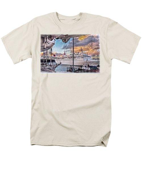 Men's T-Shirt  (Regular Fit) featuring the photograph Cruise Port - Light by Hanny Heim