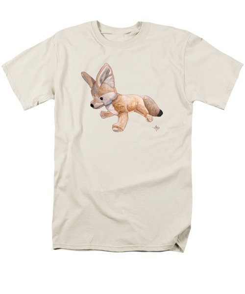 Cuddly Snow Fox Men's T-Shirt  (Regular Fit) by Angeles M Pomata