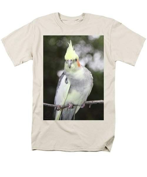 Curious Cockatiel Men's T-Shirt  (Regular Fit) by Inspirational Photo Creations Audrey Woods