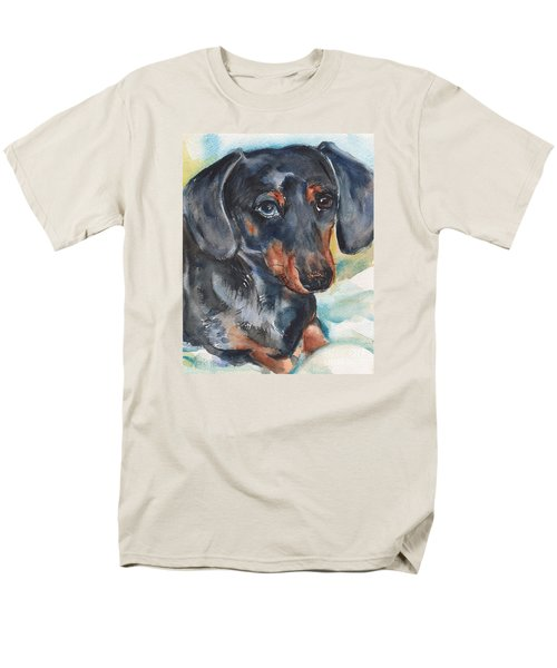 Dachshund Portrait In Watercolor Men's T-Shirt  (Regular Fit) by Maria's Watercolor