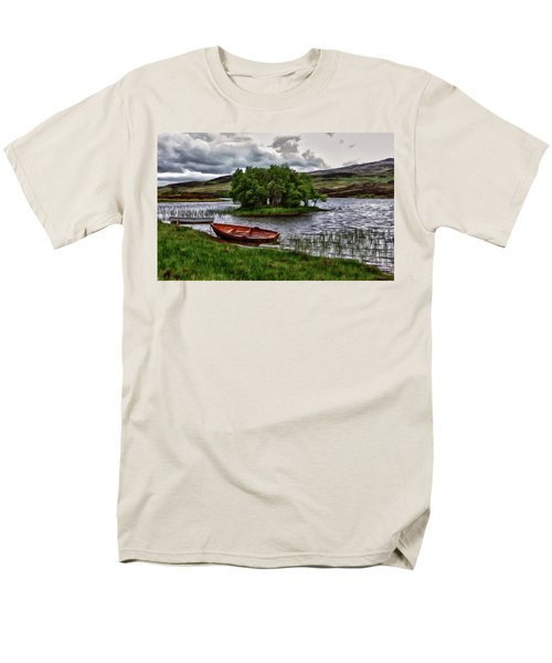 Men's T-Shirt  (Regular Fit) featuring the painting Dads Fishing Spot P D P by David Dehner