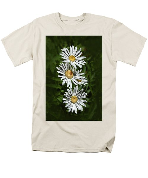 Men's T-Shirt  (Regular Fit) featuring the photograph Daisy Chain by Marie Leslie