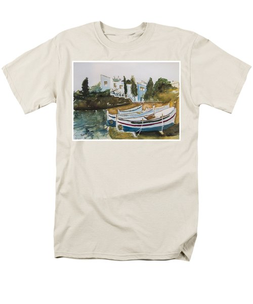 Men's T-Shirt  (Regular Fit) featuring the painting Dali House From Portlligat by Manuela Constantin