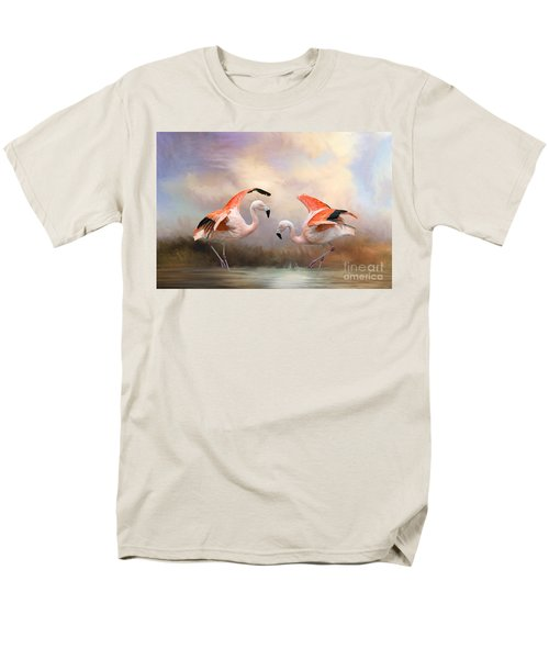 Dance Of The Flamingos  Men's T-Shirt  (Regular Fit) by Bonnie Barry