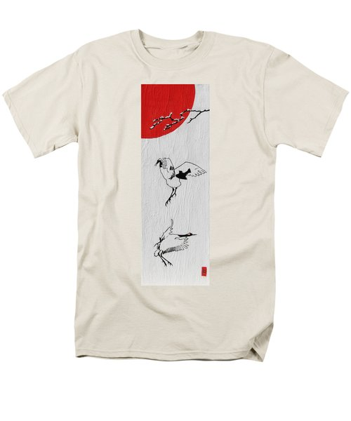 Dancing Cranes Men's T-Shirt  (Regular Fit) by Stephanie Grant