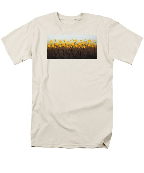 Men's T-Shirt  (Regular Fit) featuring the painting Dancing Tulips by Carmen Guedez