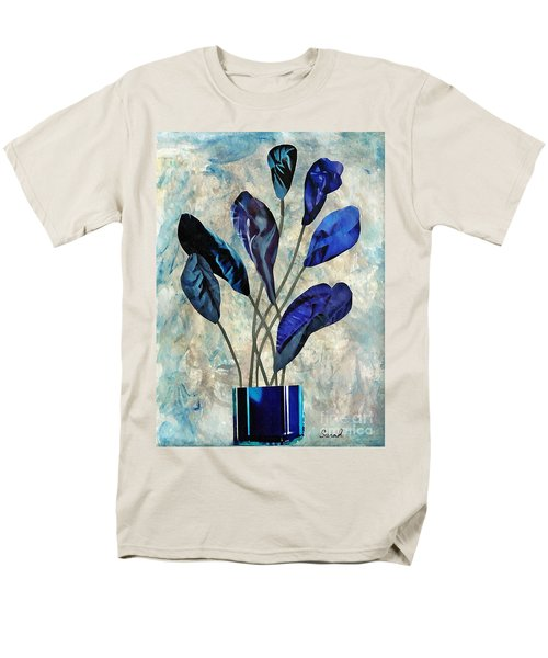 Dark Blue Men's T-Shirt  (Regular Fit) by Sarah Loft