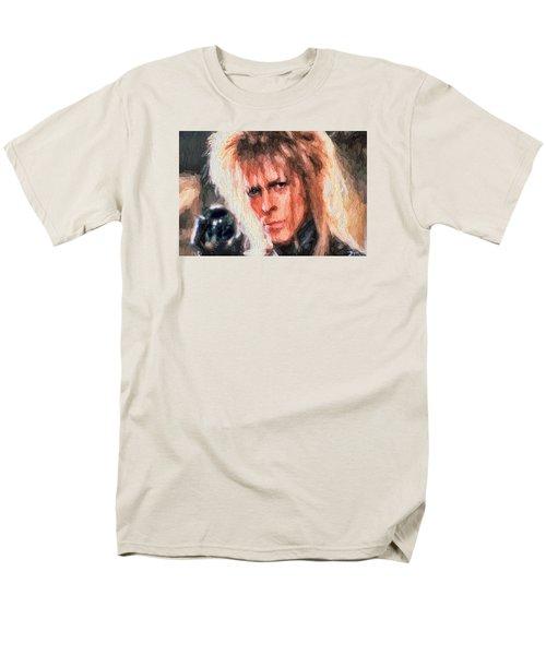 David Bowie  Men's T-Shirt  (Regular Fit) by Louis Ferreira