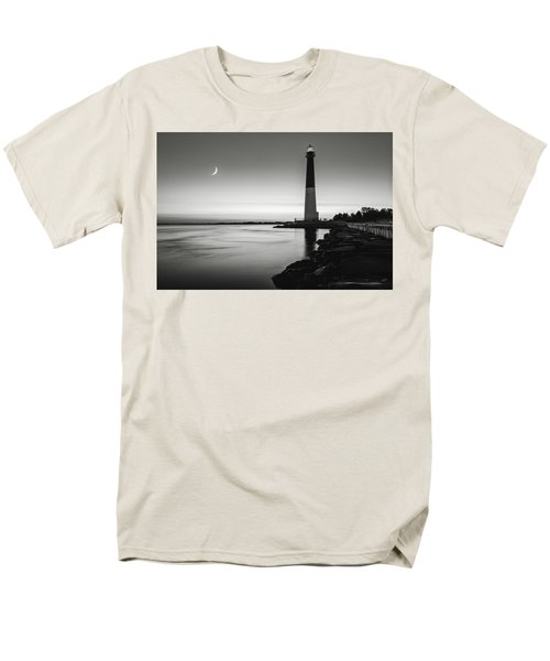 Men's T-Shirt  (Regular Fit) featuring the photograph Daybreak At Barnegat, Black And White by Eduard Moldoveanu
